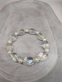 Armband kristal en parels