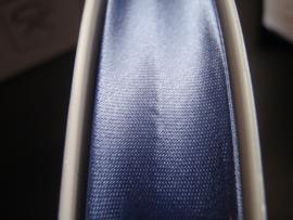 F- Col. 2061 - Biaislint satijn - Staalblauw - per 10 cm