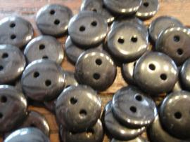 KA067 - rond knoopje 2 gaatjes 11 mm - zwart