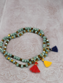 """Armband """"duo gold and green"""""""