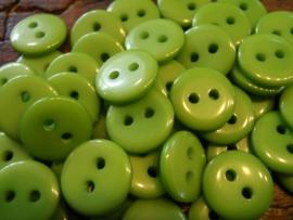KA068 - rond knoopje 2 gaatjes 11 mm - groen
