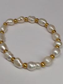 "Parelarmband ""Pearls 'n Gold"""