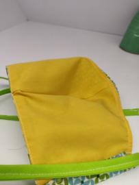 """Maat """"L"""" - Green dazzling-  geel binnenmasker - felgroen lint"""