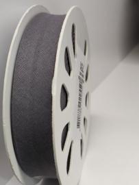 DDB002 Biaisband katoen - 20mm - grijs verkocht per 10 cm