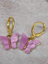 """Oorbel """"Butterfly"""" lila"""