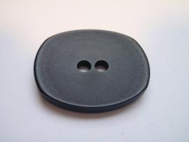 KA049 Knoop 2 gaatjes - 38 mm x 30 mm- zwart
