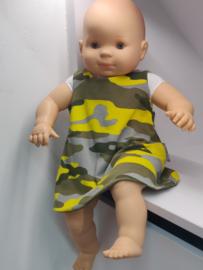 "Babykleedje/overgooiertje omkeerbaar  ""Camouflage"""