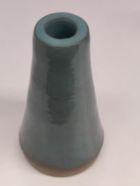 Minivaasje 6 - kleur zacht turquoise - handwerk gestempeld