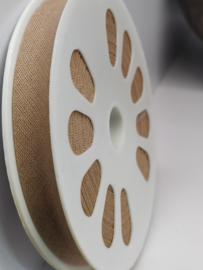 DDB707 Biaisband katoen - 12mm - mokkabeige- verkocht per 10 cm