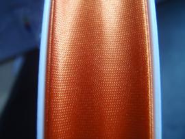 F- Col. 720 - Biaislint satijn - Warm oranje - per 10 cm