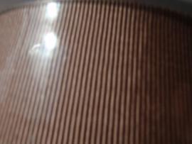 FIL 1718 Tassenband gros graine mokkabeige 4 cm breed ( wordt verkocht per 10 cm)