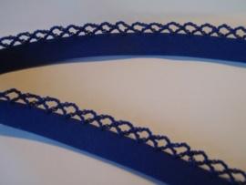 BK 028 - Biaislint met een kantje - donkerblauw - per 10 cm