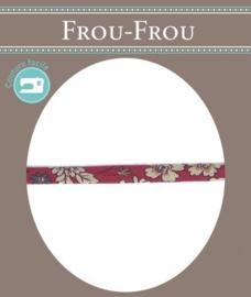FROU FROU Spaghettikoord - 7 mm flower glamour bordeaux - per 10 cm