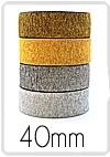 Zilverkleurige elastiek 4 cm breed : prijs per 10 cm