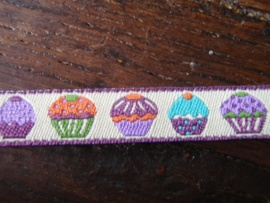 Cupcake lint 1 cm hoog verkocht per 10 cm