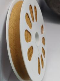 DDB958 Biaisband katoen - 12mm - beige- verkocht per 10 cm