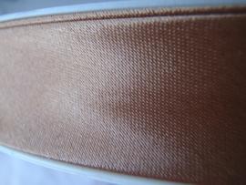 F- Col. 127 - Biaislint satijn - Mokkabeige - per 10 cm