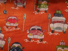 Have a good trip - by Poppy - warm oranje ( per 10cm)