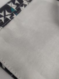 """Maat """"L"""" - Starflight grijs-  wit binnenmasker - grijs  lint"""