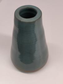 Minivaasje 12 - kleur zacht turquoise - handwerk - gestempeld