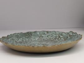 """Handgevormd bord/lage schaal - """"Blue Moon"""" diameter   +/- 20 cm"""