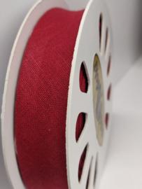 DDB751 Biaisband katoen - 20mm - wijnrood- verkocht per 10 cm