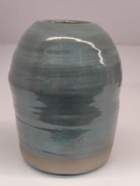 Minivaasje 11 - kleur zacht turquoise - handwerk - gestempeld