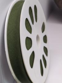 DDB521 Biaisband katoen - 12mm - jagersgroen- verkocht per 10 cm