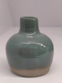 Minivaasje 5 - kleur zacht turquoise - handwerk gestempeld