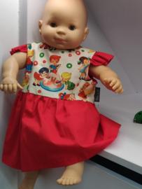 "Babykleedje/Katoenen kleedje met kapmouw ""Retro"""