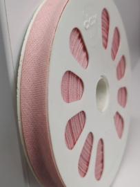 DDB719 Biaisband katoen - 12mm - roze- verkocht per 10 cm