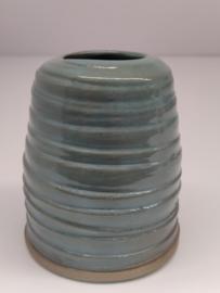 Minivaasje 14 - kleur zacht turquoise - handwerk - gestempeld