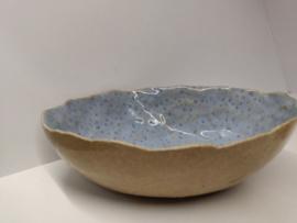 "Ovale  kom ""Tafu"" - kleur dotted light blue"