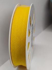 DDB645 Biaisband katoen - 20mm - geel- verkocht per 10 cm