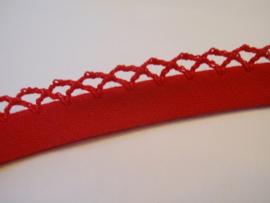 BK 046 - Biaislint met een kantje - rood - per 10 cm