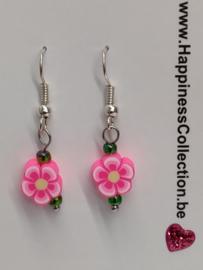 """Oorbellen """"bloemetjes roze"""""""