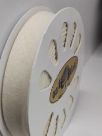 DDB880 Biaisband katoen - 20mm - off-white- verkocht per 10 cm