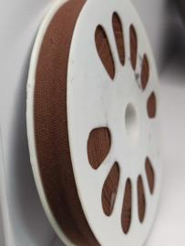 DDB902 Biaisband katoen - 12mm - bruin- verkocht per 10 cm
