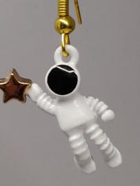 Astronaut oorbellen zwaaiend