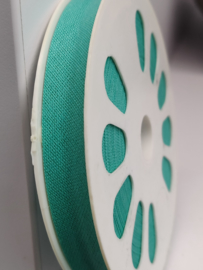 DDB457 Biaisband katoen - 12mm - turquoise- verkocht per 10 cm