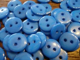 KA057 - rond knoopje 2 gaatjes 11 mm - kobalt blauw