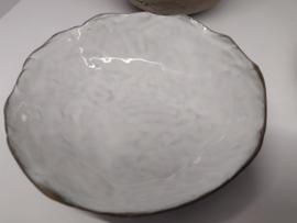 Handgevormd kommetje wit