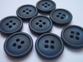 KA047 Knoop 4 gaatjes - 15 mm - blauw