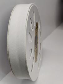 DDB600 Biaisband katoen - 20mm - wit- verkocht per 10 cm