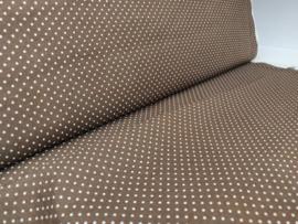 Soft Cactus - polka dots bruin( per 10 cm)