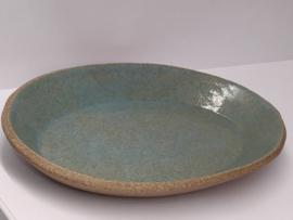 """Ovaal schaaltje """"Kitsui""""  met strakke rim -   kleur turquoize"""