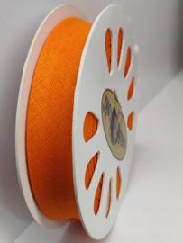 DDB693 Biaisband katoen - 20mm - oranje- verkocht per 10 cm