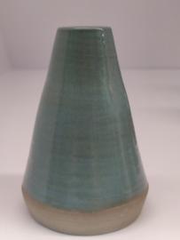 Minivaasje 2 - kleur zacht turquoise - handwerk gestempeld