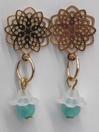 DQ oorbellen filigraan met bloemetje