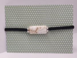 Armbandje macramé natuursteen